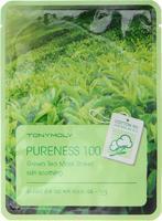 Тканевая маска Tony Moly с экстрактом зеленого чая Pureness 100 placenta mask sheet 21мл