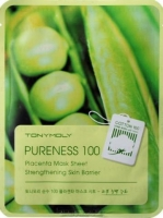Тканевая маска Tony Moly с экстрактом растительной плаценты Pureness 100 placenta mask sheet 21