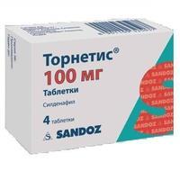 Торнетис таблетки 100 мг, 4 шт.
