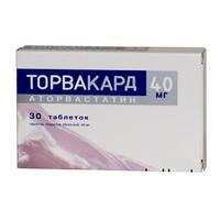 Торвакард таблетки 40 мг, 30 шт.