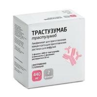 Трастузумаб лиофилизат для р-ра для инфузий 440 мг флакон 1 шт.