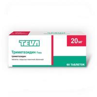 Триметазидин-тева таб. п/о плён. 20 мг №60