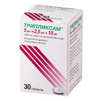 Трипликсам таблетки покрыт.плен.об 5 мг+2,5 мг+10 мг 30 шт.