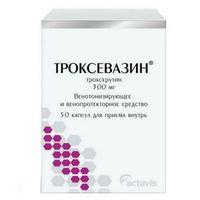 Троксевазин капсулы 300 мг, 50 шт.