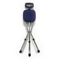 Трость Amrus AMCS37 металлическая комбинированная с трехопорным стулом с регулируемой высотой 1 шт.