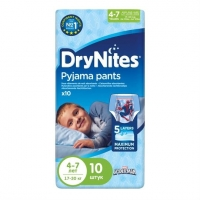 Трусики Хаггис (Huggies) ДрайНайтс для мальчиков 4-7лет 10шт. упак.