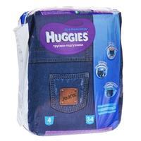 Трусики Хаггис (Huggies) Джинс размер 4 9-14кг 34шт. для мальчиков упак.