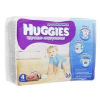 Трусики Хаггис (Huggies) Литтл Волкерс размер 4 9-14кг 34шт. для мальчиков упак.