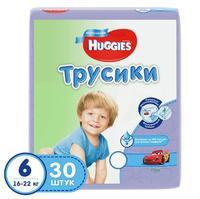 Трусики Хаггис (Huggies) Литтл Волкерс размер 6 16-22кг 30шт. для мальчиков упак.