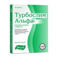 Турбослим альфа-липоевая кислота и l-карнитин таблетки, 20 шт.