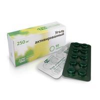 Уголь активированный таблетки 250 мг, 50 шт.