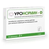 Уронормин-Ф порошок для пригот. р-ра для приема внутрь 2 г пакетики 6 г 1 шт.