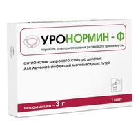 Уронормин-Ф порошок для пригот. р-ра для приема внутрь 3 г пакетики 8 г 1 шт.
