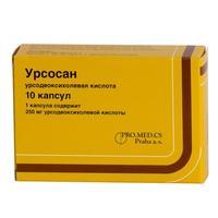 Урсосан капсулы 250 мг, 10 шт.