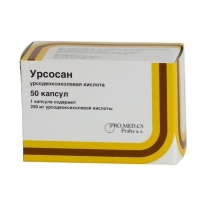 Урсосан капсулы 250 мг, 50 шт.