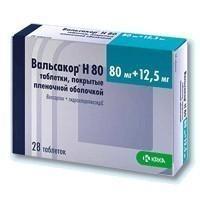 Вальсакор h80 таблетки 80 мг+12,5 мг, 28 шт.
