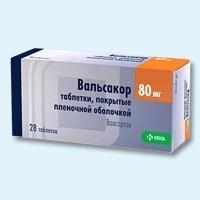 Вальсакор таблетки 80 мг, 28 шт.