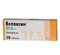 Велаксин таблетки 37.5 мг, 28 шт.