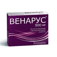 Венарус таблетки 50 мг+450 мг, 30 шт.