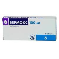Вермокс таблетки 100 мг, 6 шт.