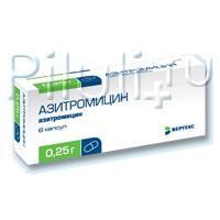 Азитромицин капсулы 250 мг, 6 шт.