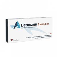 Везомни таблетки с модиф. высв. покрыт.плен.об. 6 мг+0,4 мг 30 шт. упак.