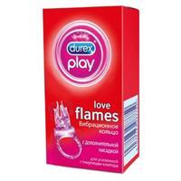 Вибрационное кольцо Durex Play Love Flame с дополнительной насадкой 1 шт.