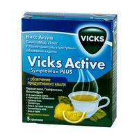 Викс Актив Симптомакс Плюс порошок для р-ра для приема внутрь лимон пакетики 5 шт.