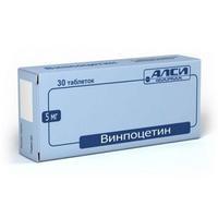 Винпоцетин таблетки 5 мг, 30 шт.