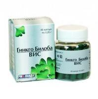 Гинкго билоба капсулы 40 мг, 40 шт.