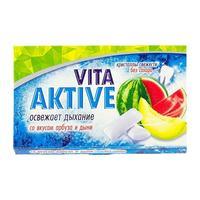 Витаактив жевательная резинка без сахара Арбуз и дыня 16 г
