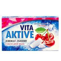 Витаактив жевательная резинка без сахара Дикая вишня 16 г
