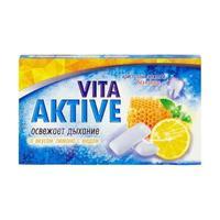Витаактив жевательная резинка без сахара Лимон-мед 16 г