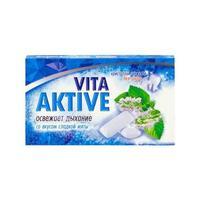 Витаактив жевательная резинка без сахара Сладкая мята 16 г