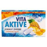 Витаактив жевательная резинка без сахара Тропические фрукты 16 г