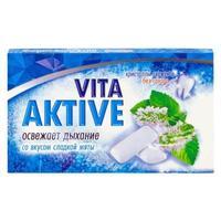 Витаактив жевательная резинка Отбеливающая с микрогранулами Сладкая мята 16 г