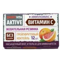 Витаактив жевательная резинка Витаминизированная с витамином С Грейпфрут 16 г