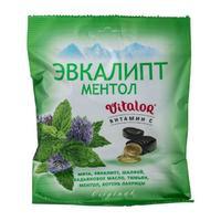Виталор леденцовая карамель с витамином С со вкусом Эвкалипта с ментолом 60 г