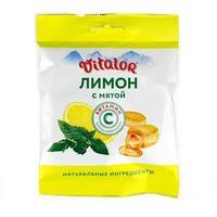 Виталор леденцовая карамель с витамином С со вкусом Лимона с мятой 60 г
