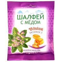 Виталор леденцовая карамель с витамином С со вкусом Шалфея с медом 60 г
