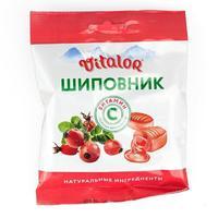 Виталор леденцовая карамель с витамином С со вкусом Шиповника 60 г