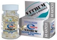 Витрум витамин е капсулы 400 ме, 60 шт.