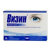 Визин Чистая слеза капли глазные на 1 день 0,5 мл ампулы 10 шт.