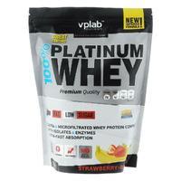 Vplab 100% Platinum Whey Протеин клубника-банан 750 г