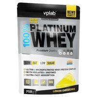 Vplab 100% Platinum Whey Протеин лимонный чизкейк 750 г