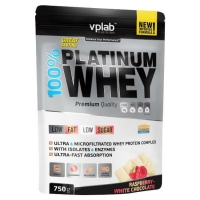 Vplab 100% Platinum Whey Протеин малина - белый шоколад 750 г