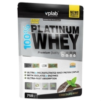 Vplab 100% Platinum Whey Протеин шоколад - мята 750 г