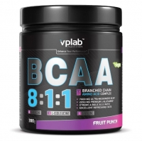 Vplab BCAA 8:1:1 Аминокислоты фруктовый пунш 300 г
