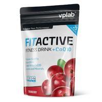 Vplab FitActive Fitness Drink+CoQ10 Витаминно-минеральный напиток сухой концентрат клюква 500 г