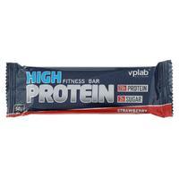 Vplab High Protein Fitness Bar Батончик протеиновый клубника 50 г